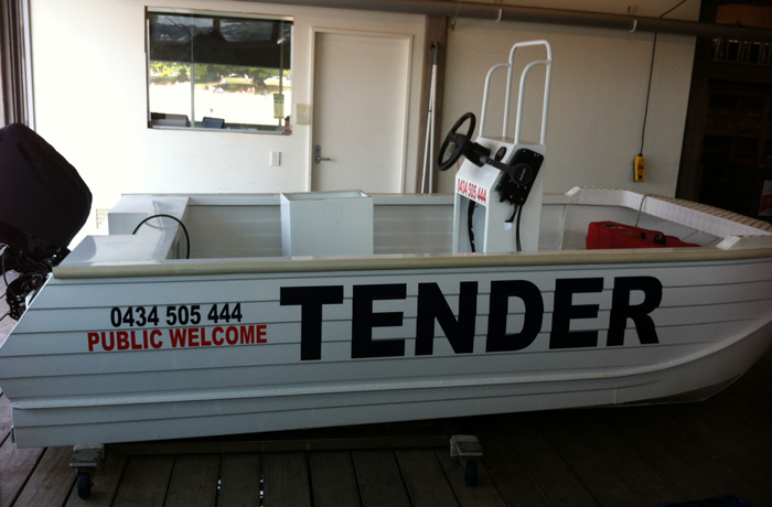 Custom Boat Lettering & Graphics Sydney