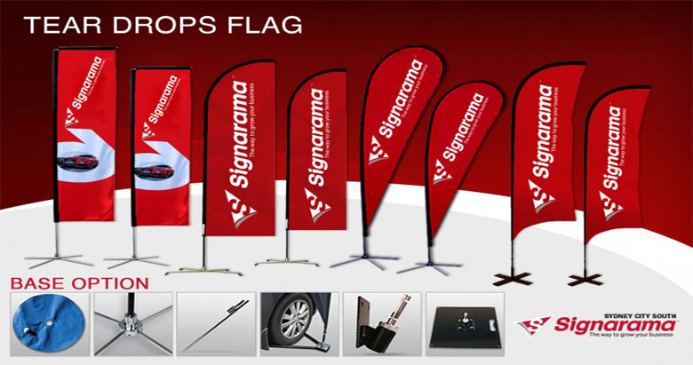 Tear Drop Flag 780x411 - Yard Signs Service Sydney